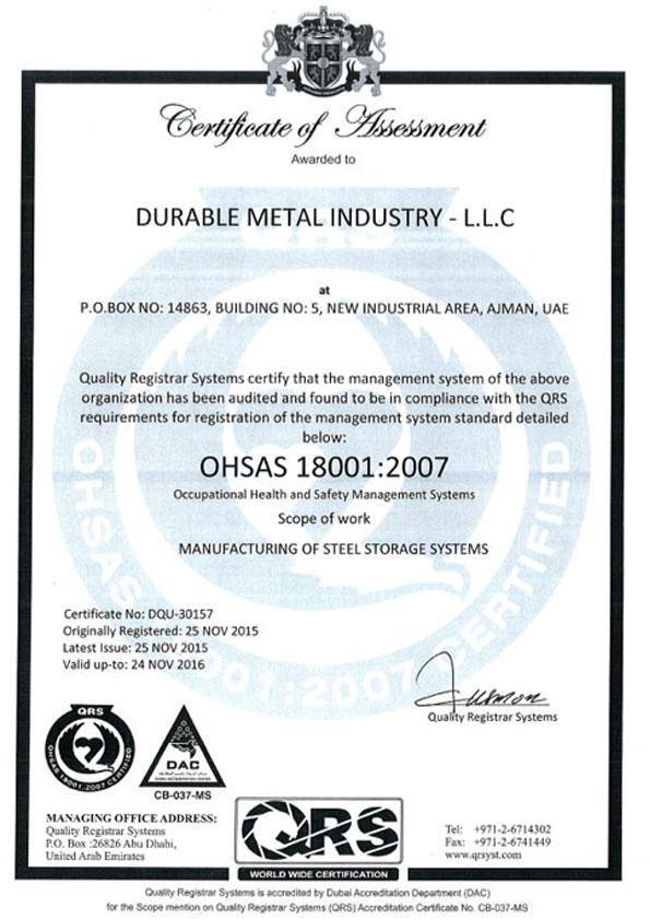 Durable Metal Industry L L C | Ajman | UAE